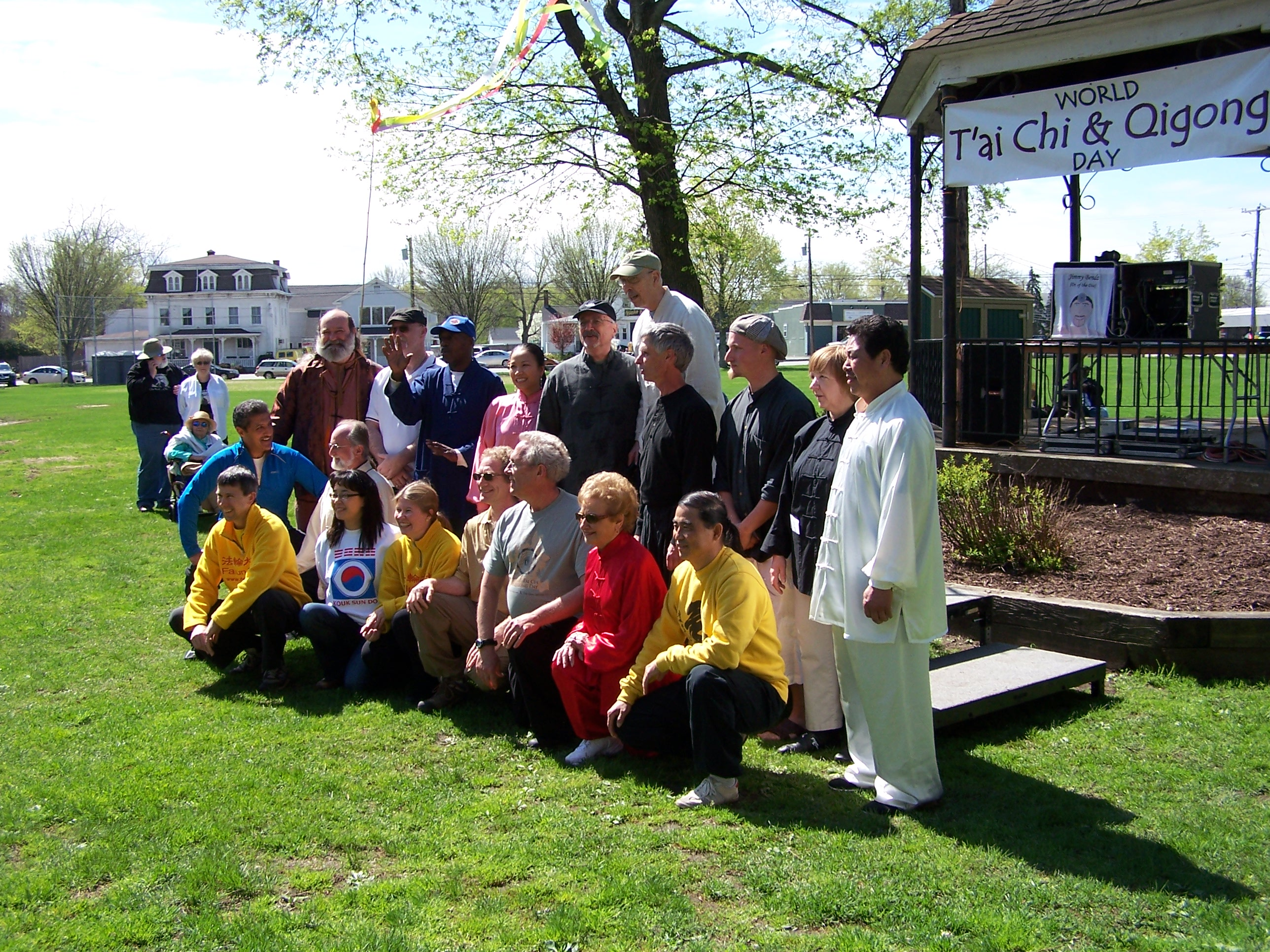 A Photo Opportunity for the teachers contributing to the day's classes and workshops